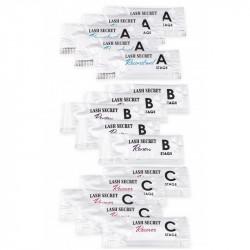 Набор составов ABC Restart 15 саше по 1 мл LASH SECRET для ламинирования ресниц