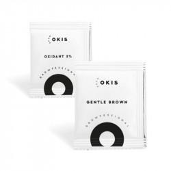 Крем-краска Gentle Brown для бровей в саше OKIS BROW и окислитель с экстрактом хны