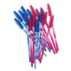 Синие и Розовые щеточки для ресниц 10 шт